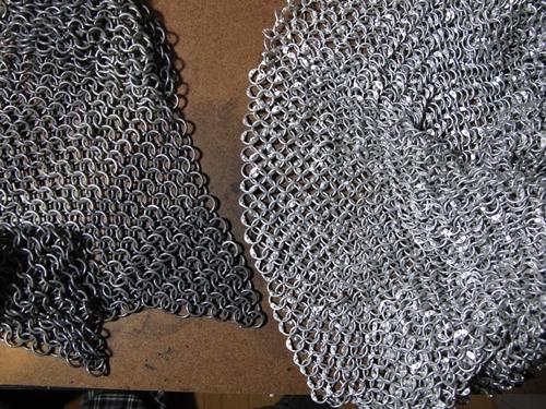 Vieillir et patiner une cotte de maille en aluminium - La cotte de maille ...